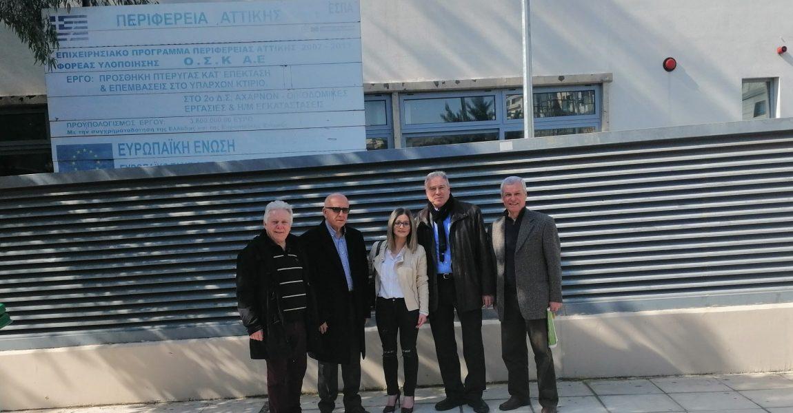Επίσκεψη Γ. Σγουρού στον Δήμο Αχαρνών – Διεκδικούμε το δικαίωμα για ασφαλείς πόλεις για όλους τους πολίτες