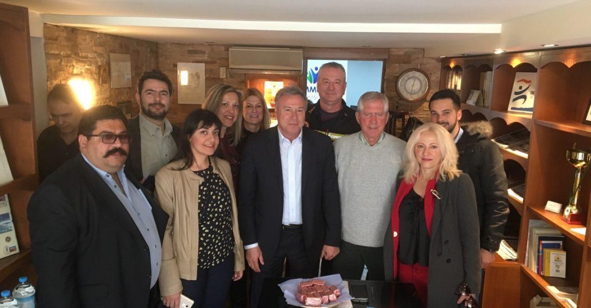 Επίσκεψη Γ. Σγουρού στο Μαραθώνα