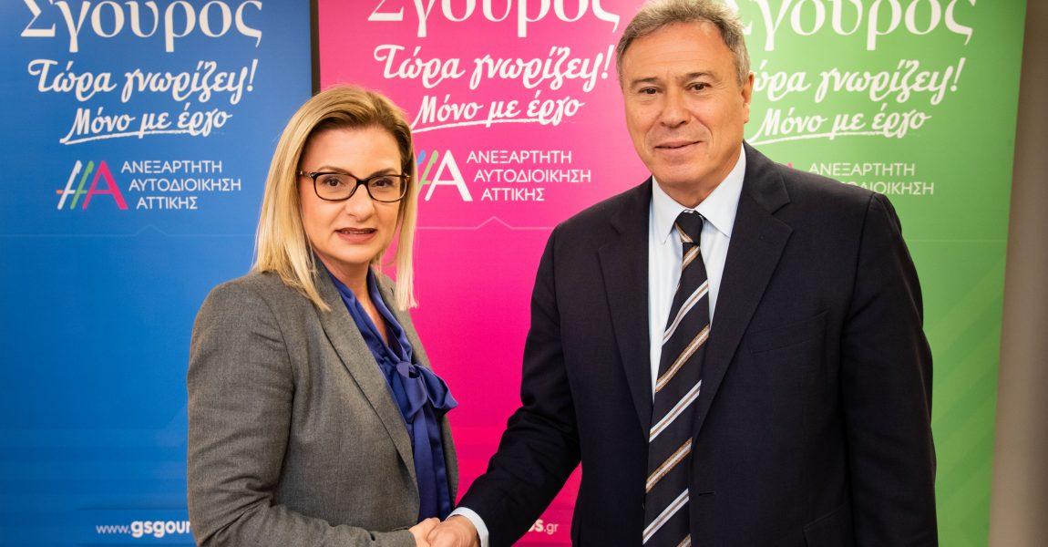 Η δικηγόρος Ελένη Αζά Θεοδωρακοπούλου με τον Γ. Σγουρό