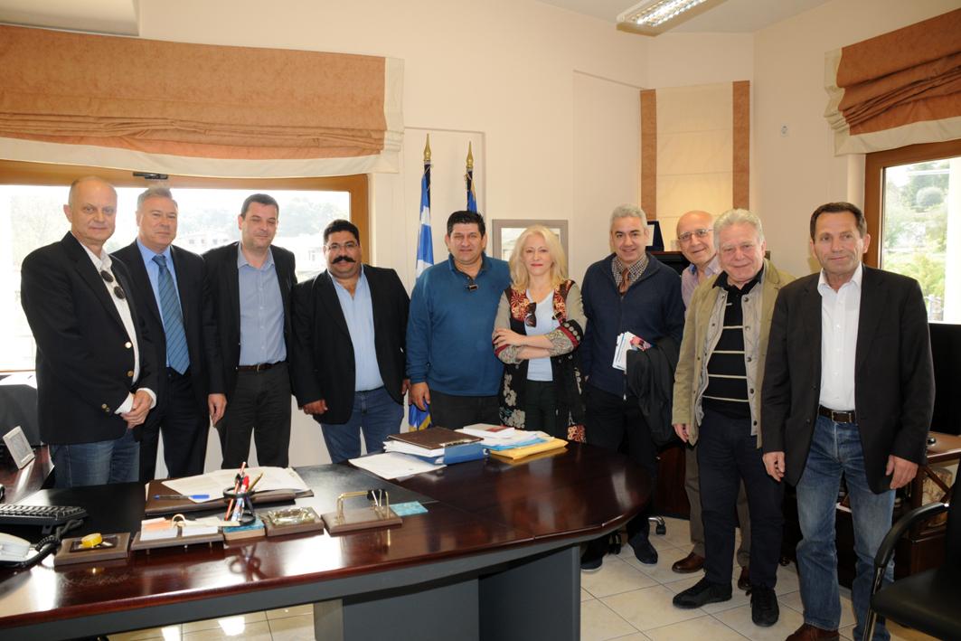 Επίσκεψη Γιάννη Σγουρού στο Δήμο Διονύσου