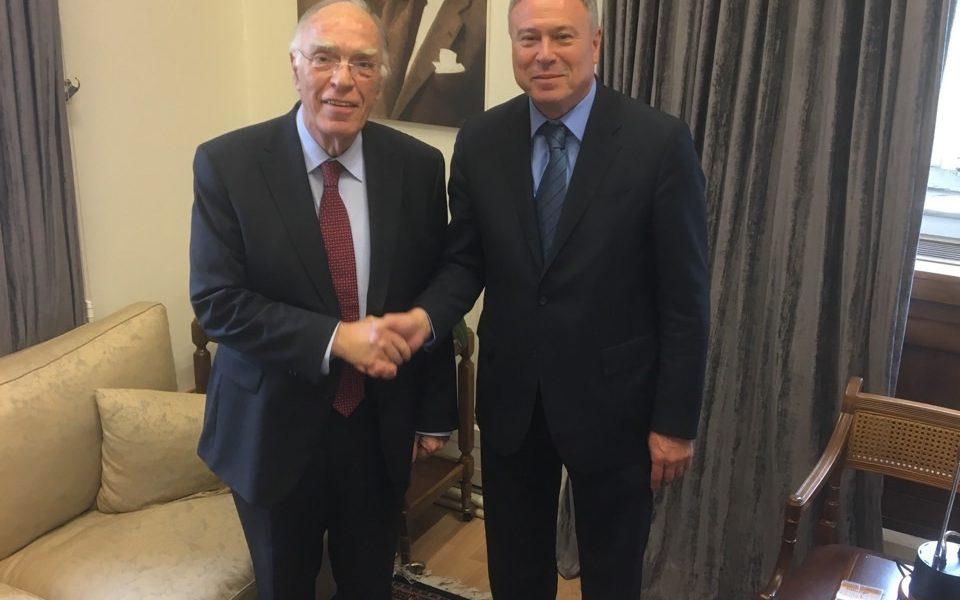 Συνάντηση Γιάννη Σγουρού με τον Πρόεδρο της Ένωσης Κεντρώων κ. Βασίλη Λεβέντη
