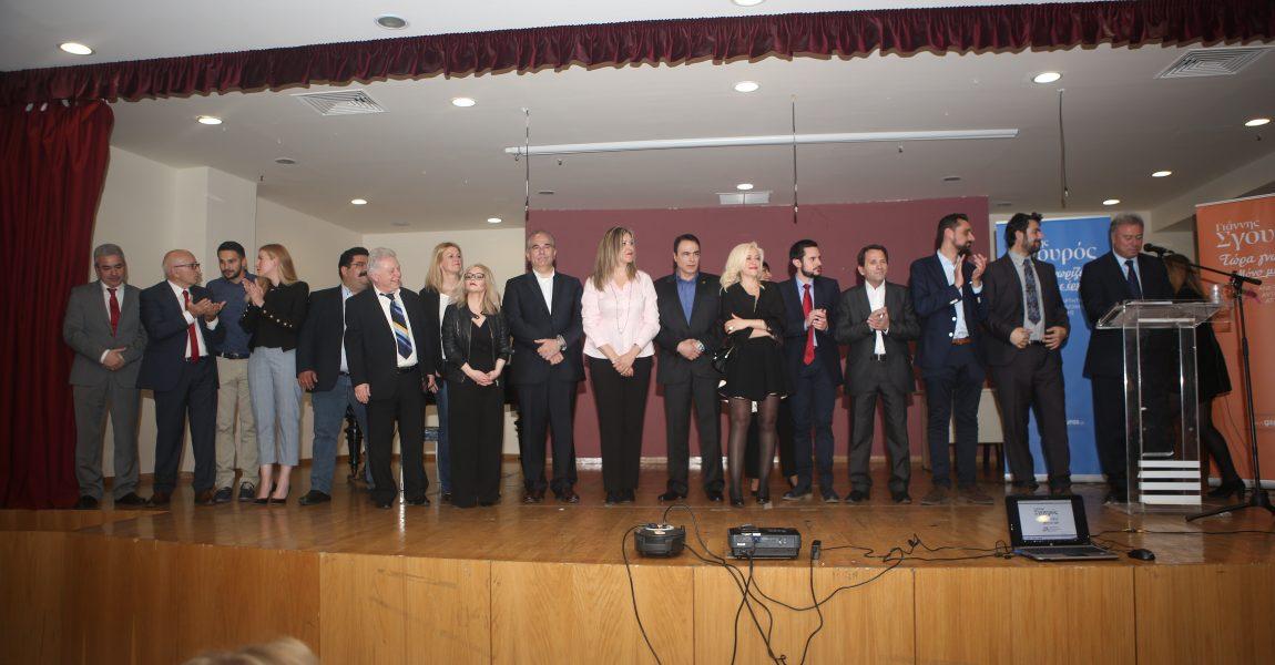 Μεγάλη συγκέντρωση Γιάννη Σγουρού στις Αχαρνές για την παρουσίαση των υποψηφίων στην Ανατολική Αττική