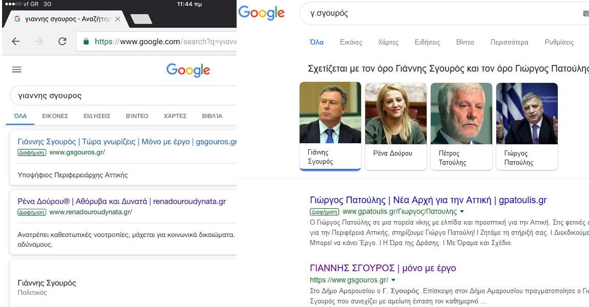 Γ. Σγουρός : Ετοιμάζει αναφορά στην Google για τις πρακτικές των ανθυποψηφίων του